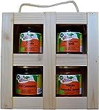 Caja de Regalo Productos Artesanos EL SOPHISTICATED :Onion Compote,Caramelized Figs,Blueberry Jam Past Compote of Dates