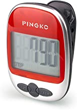 PINGKO Best Pedometer for Walking Accurately Track Steps Multi-Function Portable Sport Pedometer Step/Distance/Calories Co...