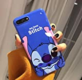 Générique New Disney Minnie Cartoons Transparent Coque Souple en TPU pour Apple iPhone 5/5s 6/6s iphone 7/8 (iphone 7/8, Stitch 1)
