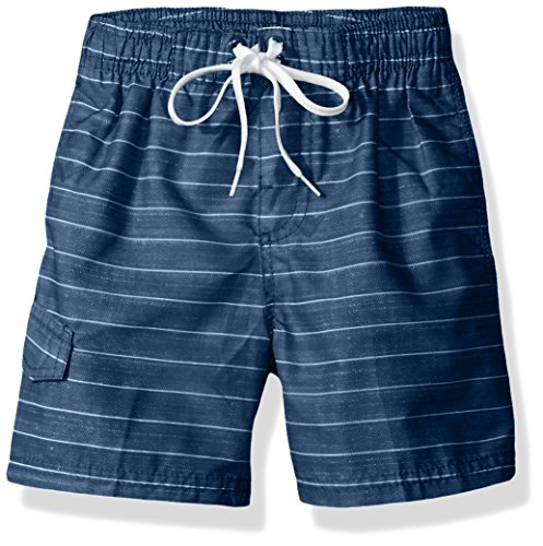 Kanu Surf Boys' Big Quick Dry UPF 50+ Beach Swim Trunk, Line Up Navy, 10/12