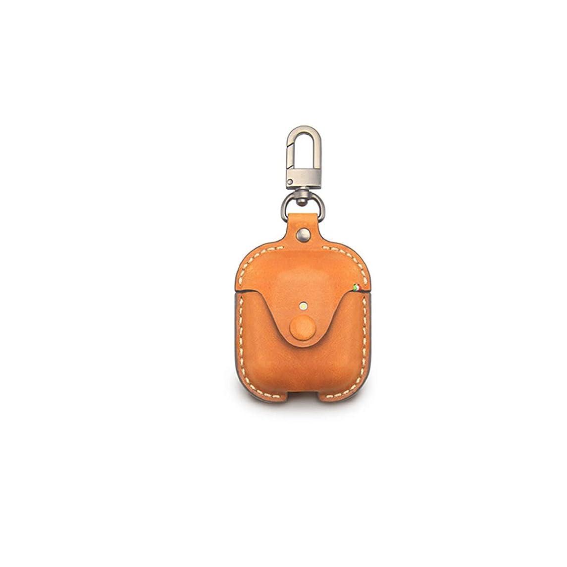 トラクター妥協ヒュームZHIC 1&2充電ケース用本革保護カバーケース[ワイヤレス充電対応] Good taste, good life (Color : Brown)