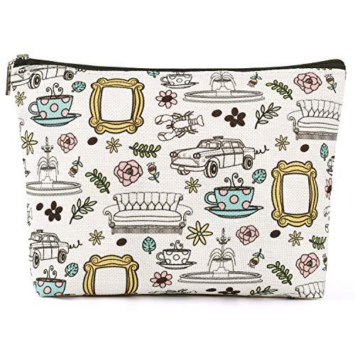 Brital Friends Makeup Bag Friends TV Show Merchandise Friends Theme Toiletry Cosmetic Bag for Friends Fans