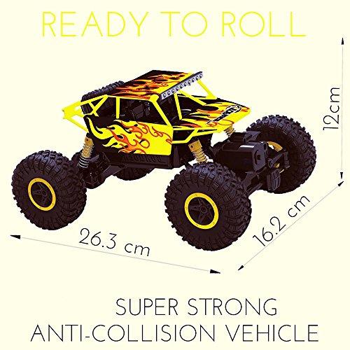 RC Auto kaufen Monstertruck Bild 3: Top Race Ferngesteuerter Monster Truck RC Rock Crawler, 2,4 GHz Sender, 4WD Off Road RC-Auto - TR-130Y*