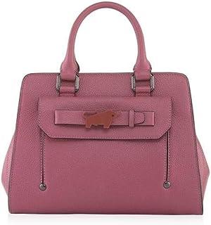 سوزن حقيبة للنساء-بيج و اسود - حقائب بتصميم الاحزمة