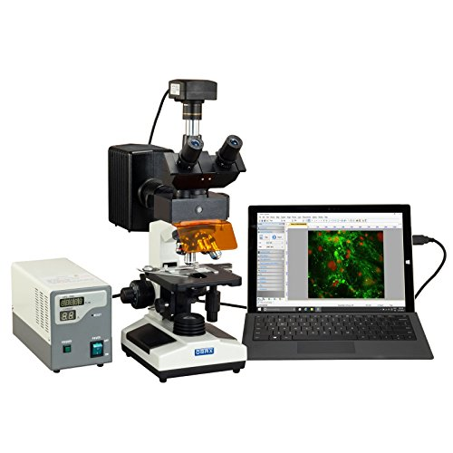 OMAX 40X-2500X 18MP USB 3.0 Digital EPI-Fluorescence Trinocular Compound Biological Lab Microscope