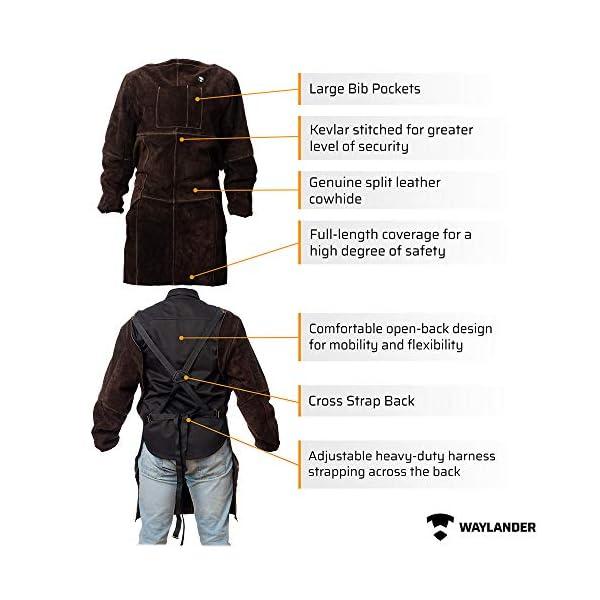 Waylander Leather Welding Apron 4