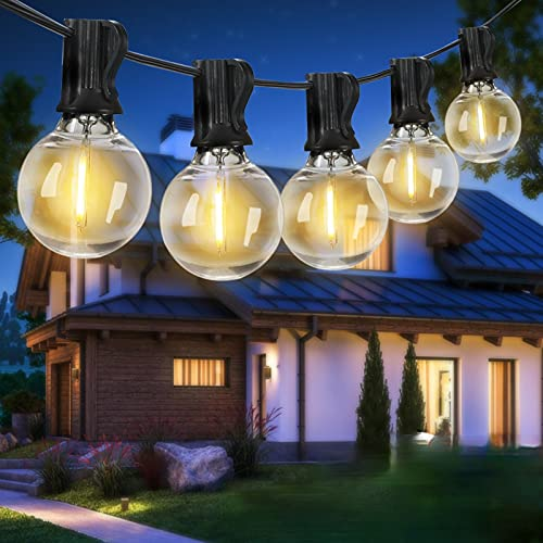 Catena Luminosa Esterno LED 24+2 Bulbi,13Metri, Tomshine Illuminazione Giardino Luci Stringa Lampadina G40 LED Bulbi (due confezioni possono essere collegate in serie)