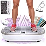 Sportstech 3D Vibration Plate VP300 | Mega Fat Burner + 5 Fitness Bands Extra | Huge Surface + 2x1000W max Motor Power + Bluetooth Speakers + Remote Control & Poster | Fitness Training at Home