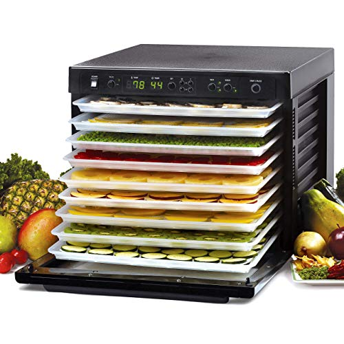 Tribest Sedona SD-P9000 Digitally Controlled Food Dehydrator With BPA-Free Trays, Black