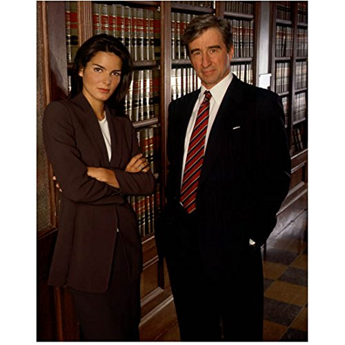 Law & Order: Special Victims Unit 8x10 Photo Angie Harmon & Sam Waterston in Law Library kn