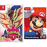 Pokémon Bouclier [Nintendo Switch] + Nintendo eShop Carte 15 EUR [Download Code]