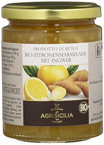 Agrisicilia Zitronen-Marmelade mit Ingwer, 6er Pack (6 x 360 g)