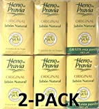 Heno de Pravia - 2 Sets of 2 Soaps Plus 1 Free and Each Is 4 Oz. (6 Soaps) By Heno de Pravia