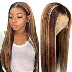 1.Transparent Lacce:Transparent lace suits all skin tones and is more natural than medium brown lace. 2.#4/27 Highlight Hair Color:Highlight Hair more Fashionable,You can wear it in any occasions, such as Christmas, New Year, holiday, theme parties, ...