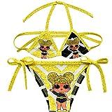 Licorne Filles Enfants Deux Pièces Coloré Bikini Set Maillot De Bain Maillot De Bain Maillots De Bain (7, 140(10-12 Ans))