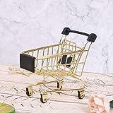 1 mini carrito de supermercado, mini carrito de la compra para casa, oficina, artículos de almacenamiento, adornos para niños