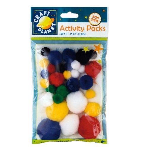 Craft Planet Pompoms Pack de 30 Couleurs Assorties