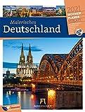 Malerisches Deutschland - Wochenplaner Kalender 2021, Wandkalender im Hochformat (25x33 cm) - Wochenkalender - Rätsel und Sudokus auf der Rückseite