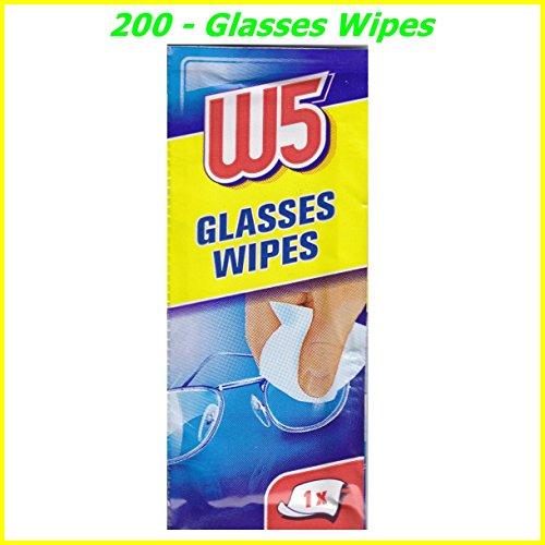 Salviette per pulire occhiali, videocamere, binocoli, specchietti dell'auto, visiera del casco, schermi di computer, televisori, cellulari iPhone e Android, 200 pezzi