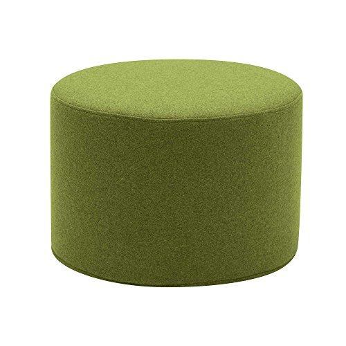 Drum Hocker/Beistelltisch S, hellgrün Stoff Felt 855 H 30cm Ø 45cm