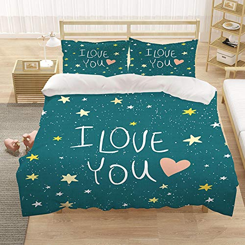 Zyttao Cartoon anime starfish 3D print pattern bedding, the best gift for children, suitable for bedroom,Apartment, comfortable duvet cover pillowcase-5_220*240cm(3pcs)