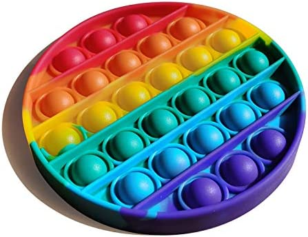 IHOMEINF Pop Fidget Toy Rainbow Push Bubble Sensory Board Toys for Autism Special Needs Stress product image
