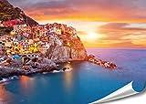 XXL Poster Dorf Manarola Küste in Italien | 140x100cm |