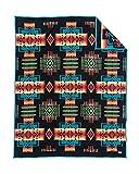 Pendleton Chief Joseph Wool Blanket, Black, Twin Size