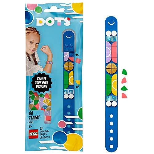 LEGO DOTS BraccialettoSportyTeam, Set Bigiotteria Fai da Te, Idea Regalo, Kit Artistici per Bambini, 41911