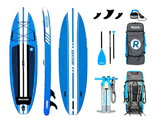 iROCKER All-Around Inflatable Stand Up Paddle Board 10' Long 32' Wide...