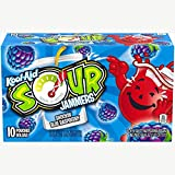 Kool-Aid Sour Jammers Shockin' Blue Raspberry Flavored Fruit Pouches (10 Pouches)
