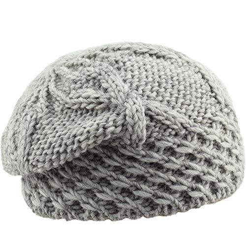 Melegari Floppy Adele Hat, muts met wol/Alpaca, gemaakt in Italië, met gevlochten, voor heren, dames, herfst/winter