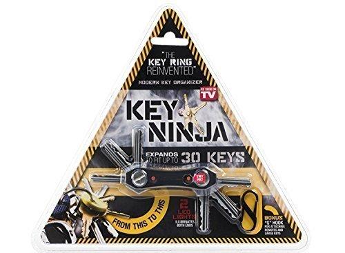 Key Ninja - Organize Up To 30 Keys, Dual LED Lights, Built In Bottle Opener (NOW IMPROVED) by Key Ninja
