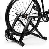 GOPLUS Home Trainer Vélo Entrâineur de Vélo Capacité de Charge 150kg Convient aux Vélo 20-28 Pouce,700cc Noir