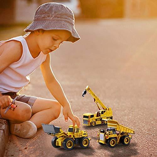 RC Baufahrzeug kaufen Baufahrzeug Bild 1: Kinder RC Baufahrzeuge Modellbau Spielzeugauto - Fernbedienung Bagger Muldenkipper & Bulldozer Spielzeug für Kleinkinder, Kinder - Bau Spielzeug Traktor von Libertey*