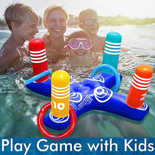 Inflatable Pool Ring Toss Pool Game Toys Floating Swimming Pool Ring...