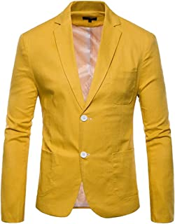 Men's Jacket Suit Slim Solid Blazer Button Color Fit Fashion Brands Long Sleeves Lapel Blazer Coat Men Fashion
