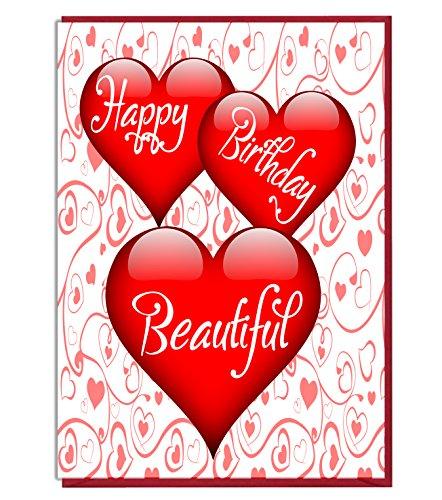 Liefdeshart Verjaardagskaart - Gelukkige Verjaardag Mooi - Liefhebber - Partner - Vrouw - Echtgenoot - Vriendin - Vriendje