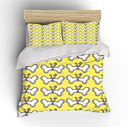 Het leuke Dekbed Cartoon Cover Bedding Set, dekbedovertrek voor jongens en meisjes, eenpersoonsbed voor tieners, tweepersoonsbed, comfortabele zachte microvezel,07,GBSupKing260cm×220cm