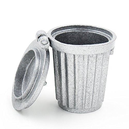 1:8 1:6 Miniature TRASH GARBAGE CAN Wheels Waste Management Logo TOY Ad Spec