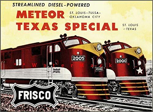 Nostalgic-Art - Letrero de lata retro con diseño de Frisco 1956, diseño de Meteor Texas, estilo especial, estilo vintage, bar, cocina, cueva, cafetería, cafetería, decoración de pared (20 x 30 cm)