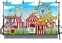 新しいCOMOPHOTサーカステント写真撮影の背景サーカスカーニバル子赤ちゃん誕生日パーティーの装飾写真ブースの背景7x5ftビニールシームレスプリント背景