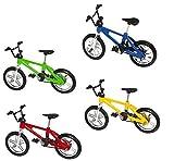 CLKJYF Mini Bike Finger ,4 Pack Miniature Metal Finger Mountain Bike Toy, Finger Bicycle Mountain Bike Cool Boy Toy Creative Game Toy Set