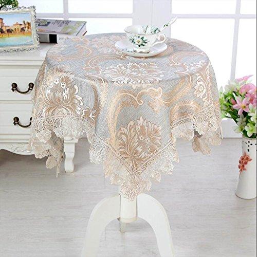 Samer tafelkleed van kant, vierkant, voor woonkamer, salontafel, salontafel, nachtkastje, koelkast, tv, doek