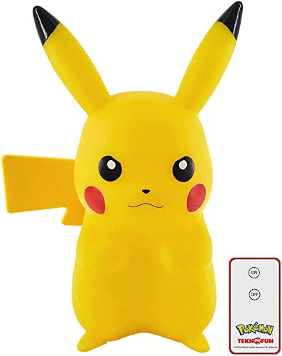 servicio de primera clase Teknofun- Pikachu Pikachu Pikachu Lampara Led 25 cm + Control Remoto Pokemon, Color amarillo (TKFPO811372)  en stock