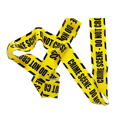 Widmann VD-WDM51895 Barricade Tape Tape Crime Scene, Do Not Cross für Erwachsene, Gelb, Unikat, 51895