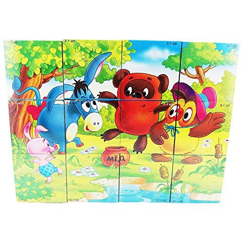 LEB Verlag Kinder Spielzeug Würfel Russische Zeichentrickfilme Entwicklungsspiele Spiele Kleinkinder