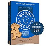 GRAIN FREE DOG TREATS – wholesome, oven baked, healthy dog biscuits that keep things deliciously simple with natural roasted chicken SIMPLE INGREDIENTS - Buddy Biscuits grain free dog treats are made with only 7 ingredients. No added gluten, corn, so...