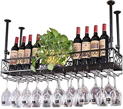 YLongFEI Wijnglas Houder Zwart Opslag Plank Champagne Glas Stemware Rack Wijnfles Houder Uitstekende Dimensie Drawing Racks Bril Ruimte Saver