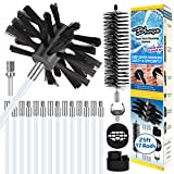 Bluesea 25ft Dryer Vent Vacuum Cleaning Attachment Lint Remover for Dryer Vent Cleaning Brush Kit Flexible Nylon Rods Dryer Vent Cleaning System Extend Multi-Use Synthetic Brush Heads
